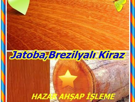 Jatoba,Brezilyalı Kiraz,(Hymenaea courbaril),Brazillian Kiraz (ABD), Guapinol (C. Amerika ve Meksika), Algarrobo (Kolombiya, Venezuela), Jatai, Locust