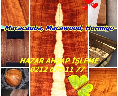 Macacauba, Macawood, Hormigo, Turuncu Akik,Platymiscium spp. S. dimorphandrum, S. pinnatum, Trinitatis, S. ulei