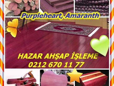 Purpleheart, Amaranth,(Peltogyne spp.),Mor,Amarante,Barabau,Bois Violet,Guarabu,Koroboreli,Morado,Tananeo,Violetwood