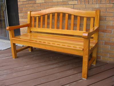 Black locust bench